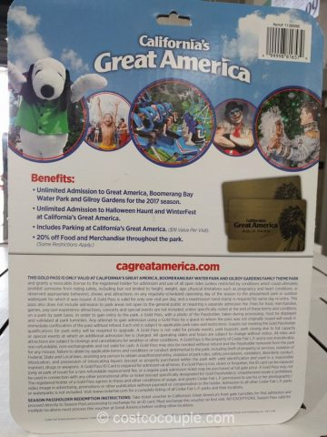 Great America 2017 Gold Season Pass Costco