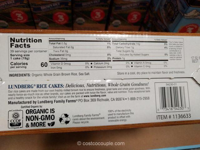 Lundberg Farms Organic Brown Rice Cakes Costco