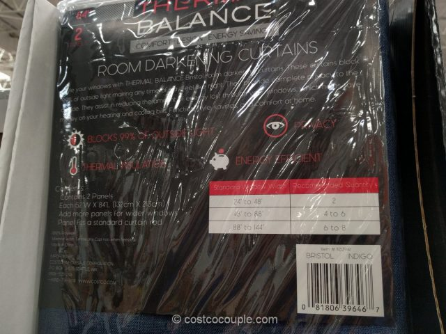 Thermal Balance Room Darkening Curtains Costco
