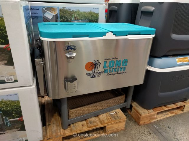 Tommy Bahama Stainless Steel Rolling Cooler Costco