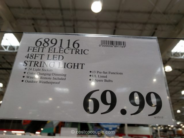 ... Feit Electric 48-Ft LED String Lights Costco & Feit Electric 48-Ft LED String Lights azcodes.com