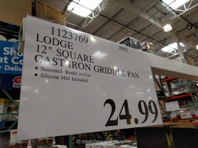 Lodge 12-Inch Square Cast Iron Griddle Costco
