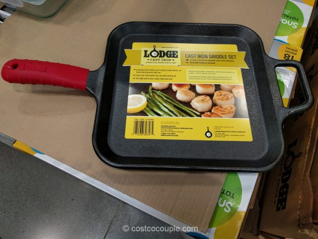Lodge 12-Inch Square Cast Iron Griddle Costco