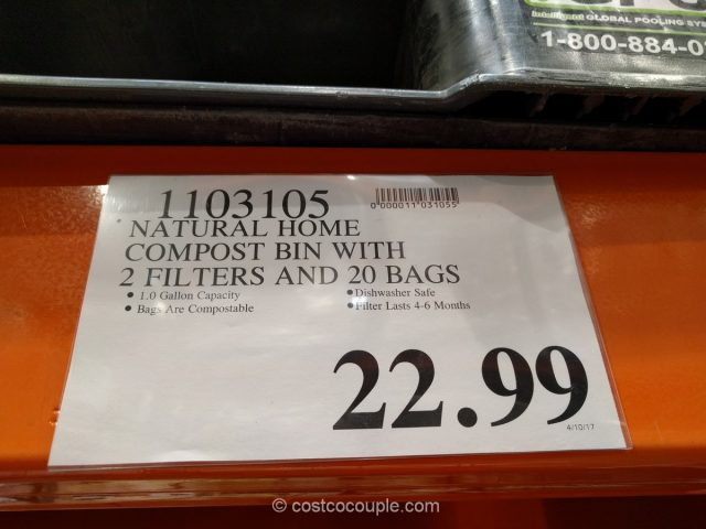 Natural Home Ceramic Kitchen Compost Bin Costco
