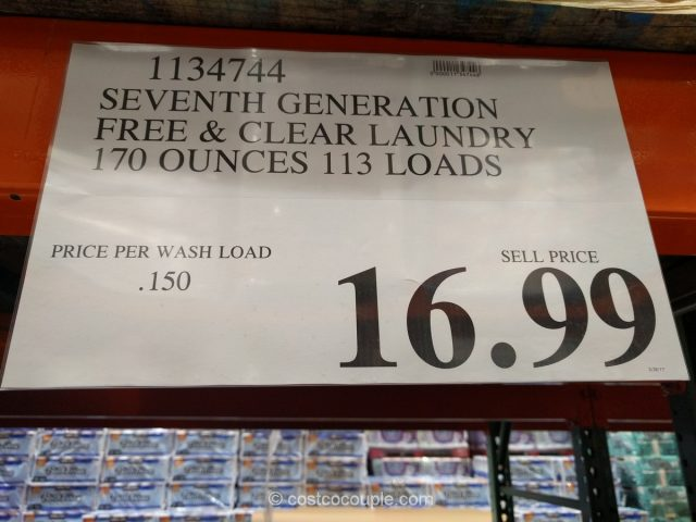 Seventh Generation Free and Clear Laundry Detergent Costco
