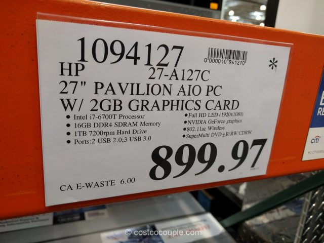 HP Pavilion 27-Inch All-In-One PC Costco