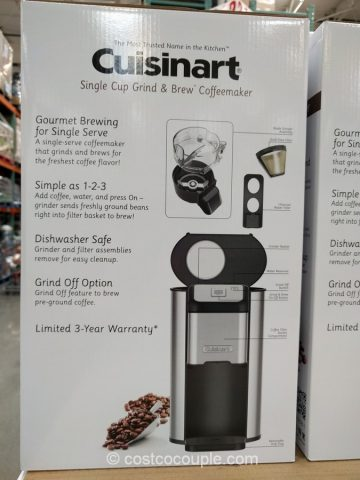 Cuisinart Single Cup Coffee Grind and Brew Costco
