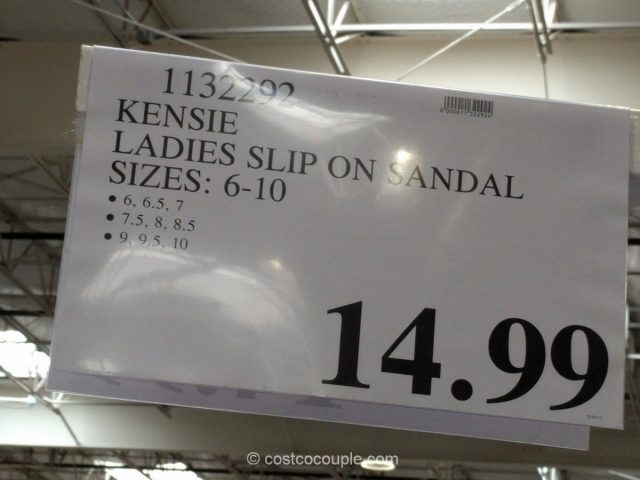Kensie Ladies Slip-On Sandal Costco