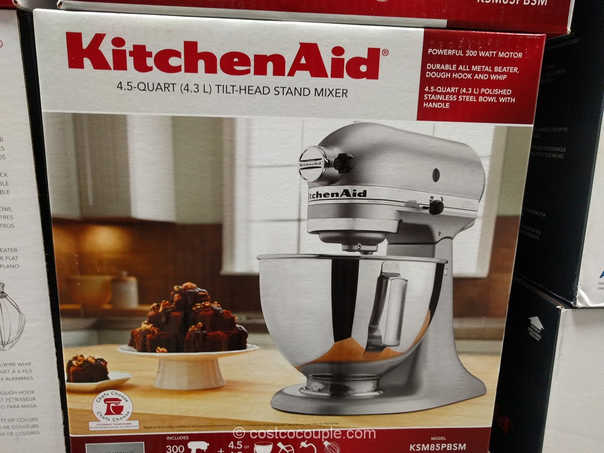 kitchenaid 4 5 qt stand mixer rh costcocouple com kitchenaid 6 qt mixer costco costco kitchenaid hand blender