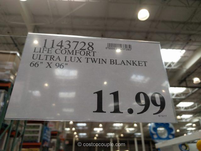 Life Comfort Ultra Lux Twin Blanket Costco