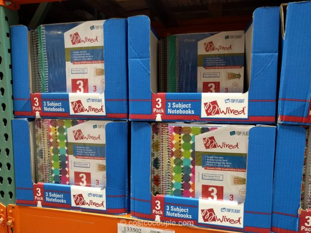 Top Flight 3 Subject Notebooks Costco