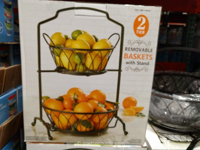 2 Tier Removable Baskets With Stand