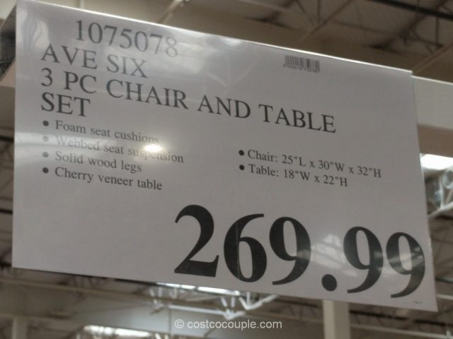 Ave Six 3 Piece Chair And Table Set