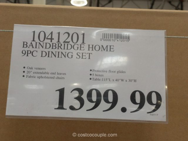 Bainbridge Home 9-Piece Dining Set Costco