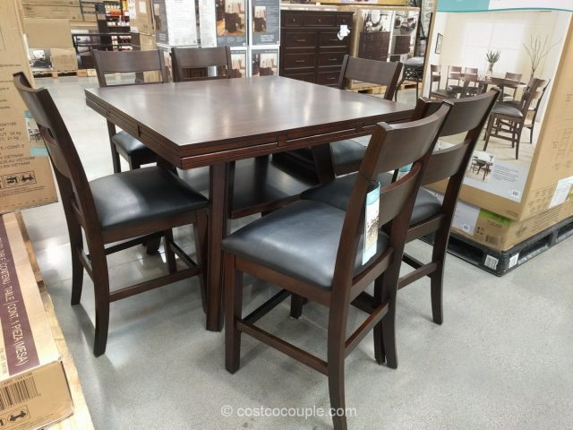 Bayside Furnishings 7-Piece Counter Height Dining Set Costco