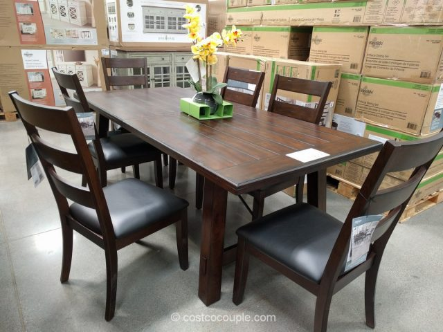 Beau Bayside Furnishings 9 Piece Dining Set Costco