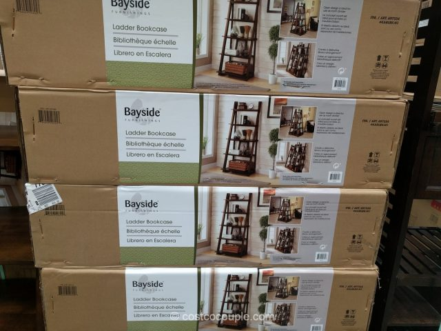 Bayside Furnishings Ladder Bookcase