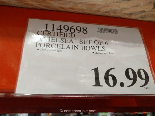 Certified International Chelsea Porcelain Bowl Set Costco