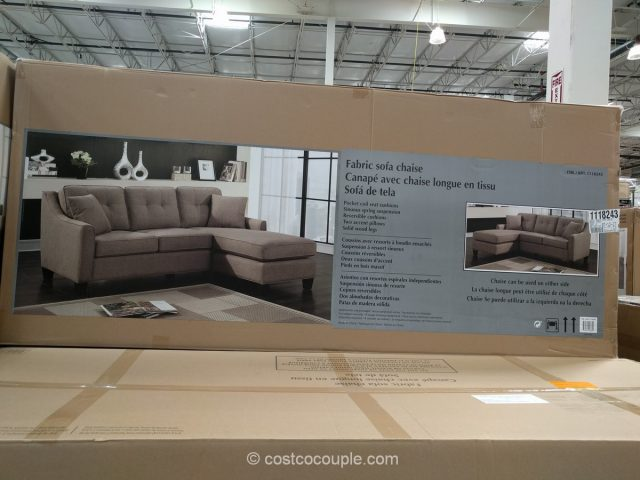 Fabric sofa chaise for Chaise lounge costco