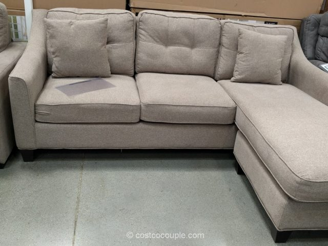 Costco sleeper sofa with chaise beeson fabric sleeper for Ava chaise lounge costco