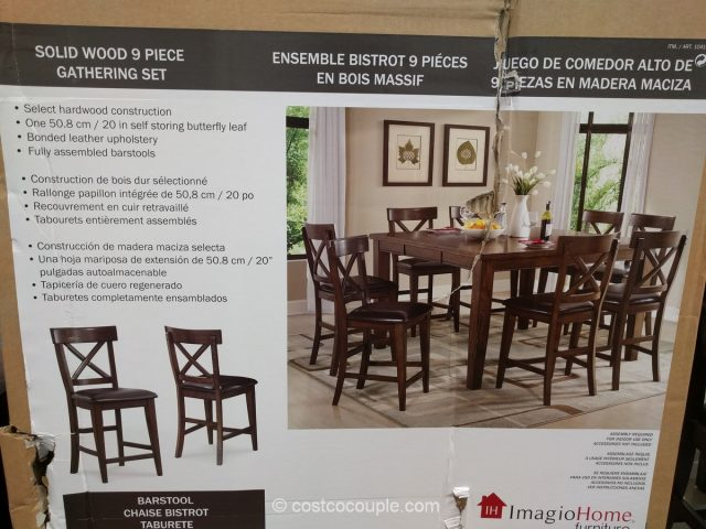 Imagio Home 9 Piece Counter Height Dining Set