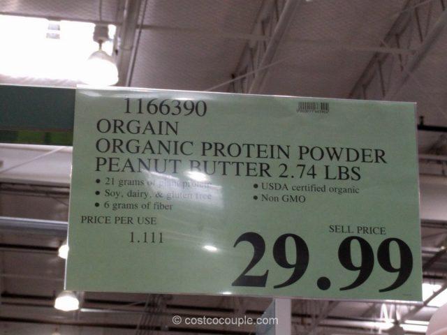 Orgain Organic Protein Powder in Peanut Butter