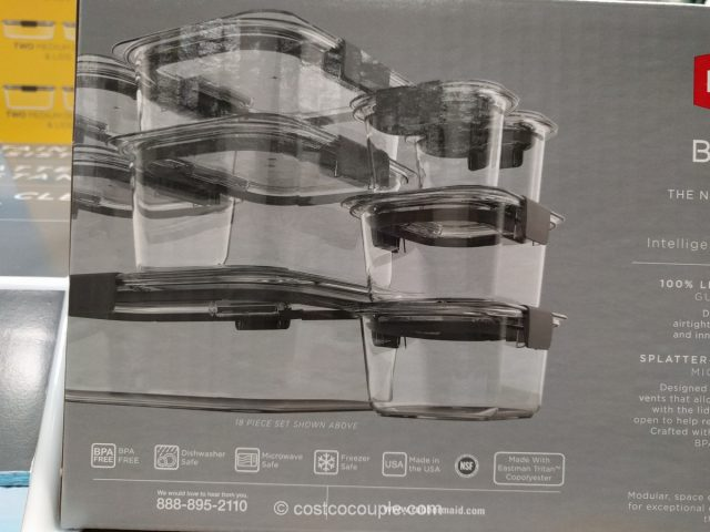 Rubbermaid Brilliance Food Storage Set