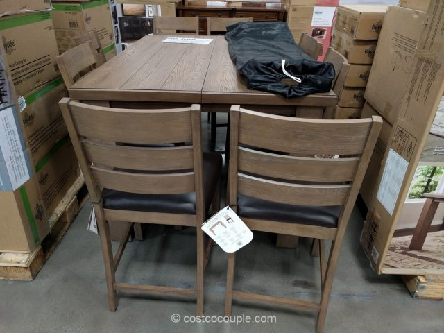 Universal Broadmoore 9-Piece Counter Height Dining Set Costco