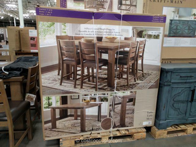 Universal Broadmoore 9 Piece Counter Height Dining Set