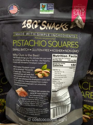 180 Snacks Pistachio Squares Costco