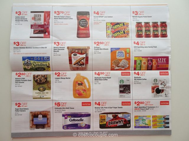Costco September 2017 Coupon Book 08/31/17 to 09/24/17