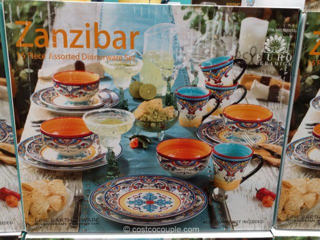 Euro Ceramica Zanzibar Dinnerware Set