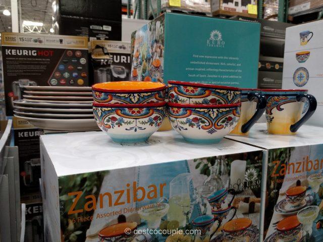 Euro Ceramica Zanzibar Dinnerware Set Costco
