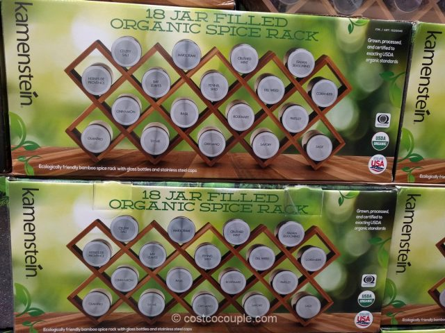 Kamenstein 18 Jar Organic Spice Rack Costco