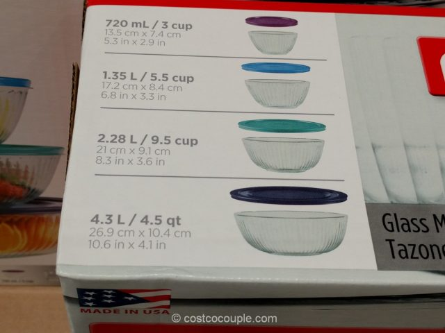 Pyrex 4-Piece Mixing Bowl Set Costco