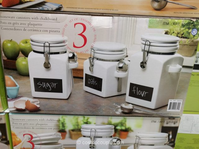 Stoneware Canisters with Chalkboard Set Costco