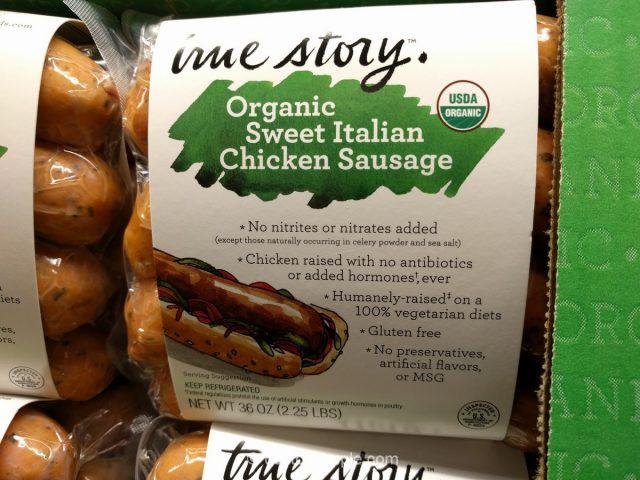 True Story Organic Sweet Italian Chicken Sausage