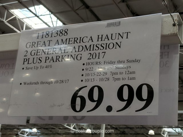 California Great America 2017 Halloween Haunt Costco