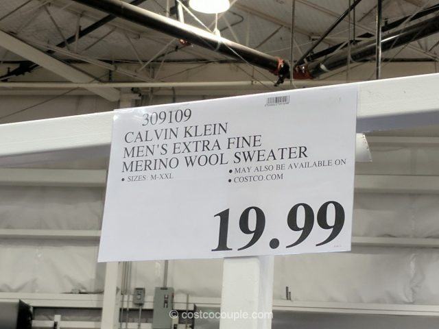 Calvin Klein Mens Extra Fine Merino Wool Sweater Costco