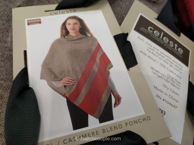 Celeste Cashmere Blend Poncho Costco