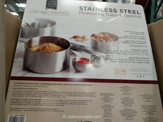 Chicago Metallic 12-PIece Stainless Steel Measuring Set Costco