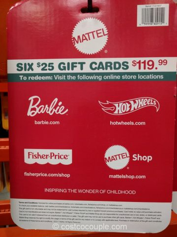 Gift Cards Mattel Costco