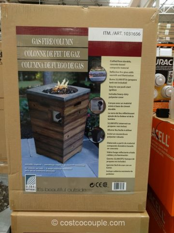 Global Outdoors Gas Fire Column Costco