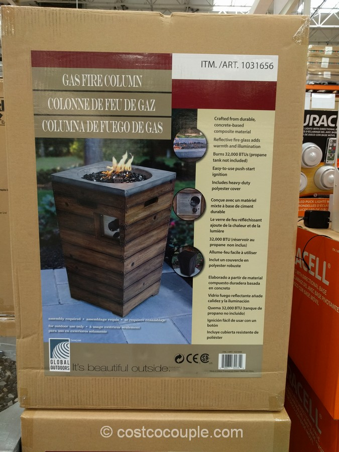 Global Outdoors 27 Inch Gas Fire Table