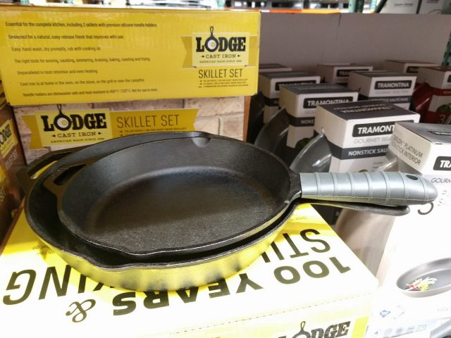 Lodge Cast Iron Skillet Set Costco