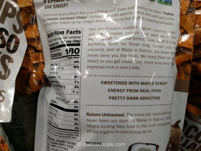 Made in Nature Organic Toasted Coconut Chips Costco