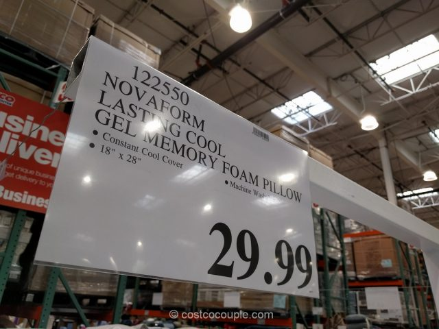 Novaform Lasting Cool Gel Memory Foam Pillow Costco