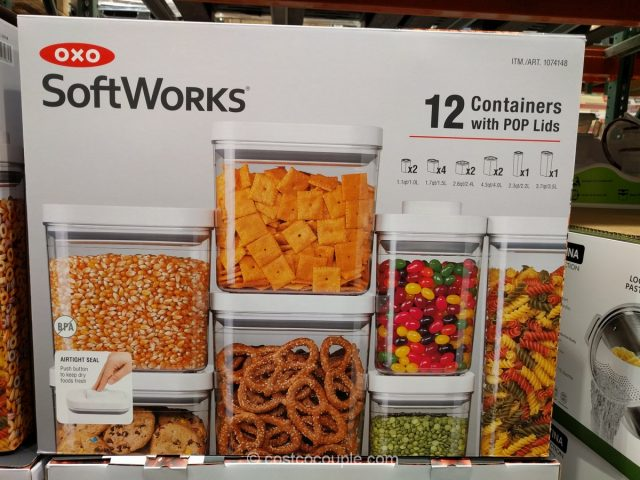 Oxo SoftWorks 12-Piece POP Top Set Costco
