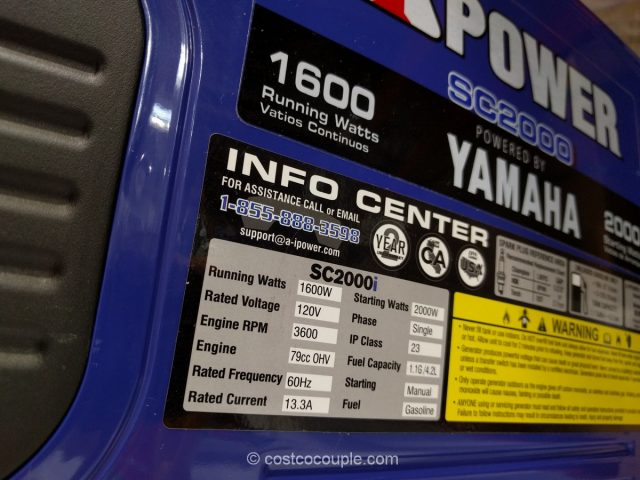 Yamaha iPower SC2000i Inverter Generator Costco