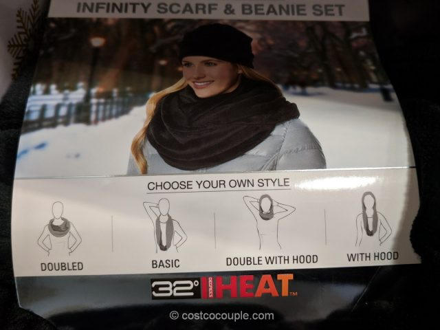 32 Degrees Ladies Infinity Scarf and Beanie Set Costco